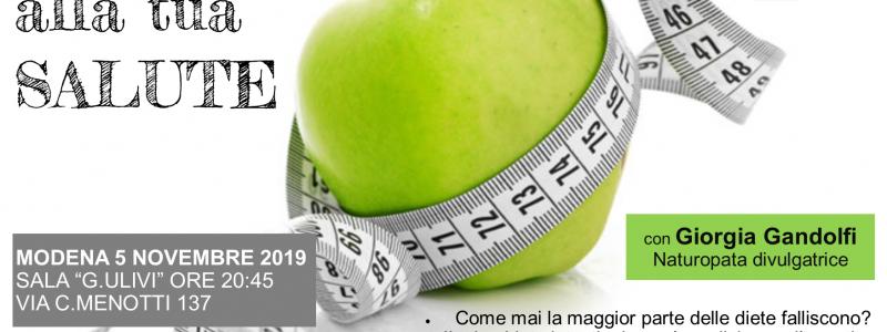 dai PESO alla tua SALUTE: conferenza a Modena