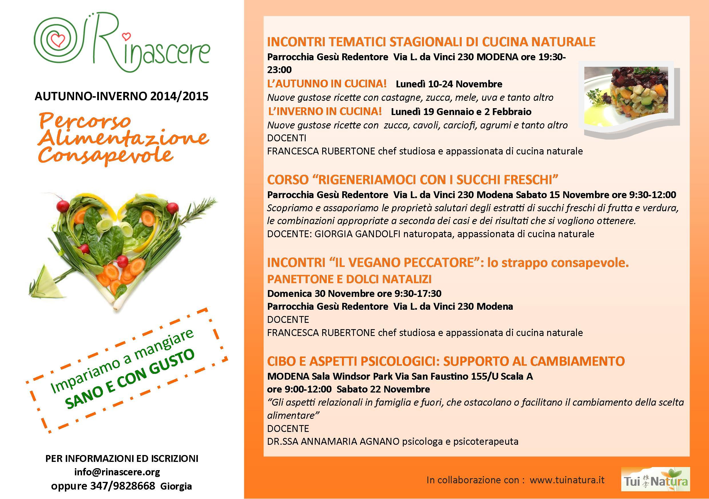 percorso alimentazione consapevole 2014 - Corso Cucina Modena