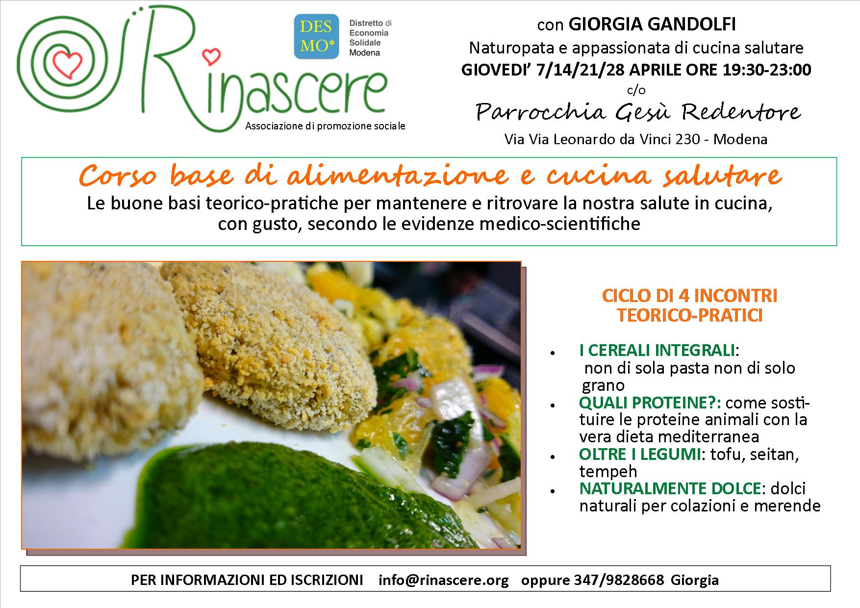 corso base alimentazione e cucina modena 2016 - Corsi Cucina Modena