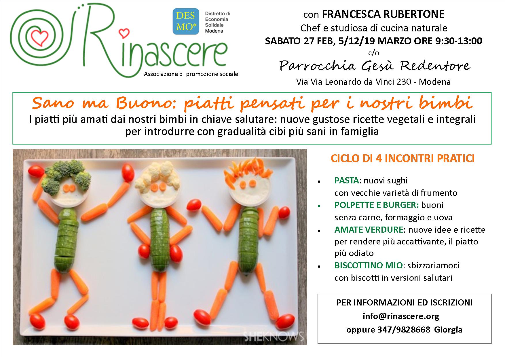 corso alimentazione e cucina salutare per genitori - Corsi Cucina Modena
